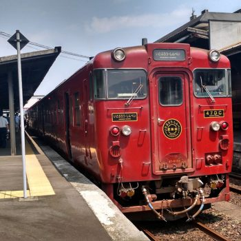 Red vintage DMU front